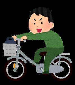 自転車をこぐ人